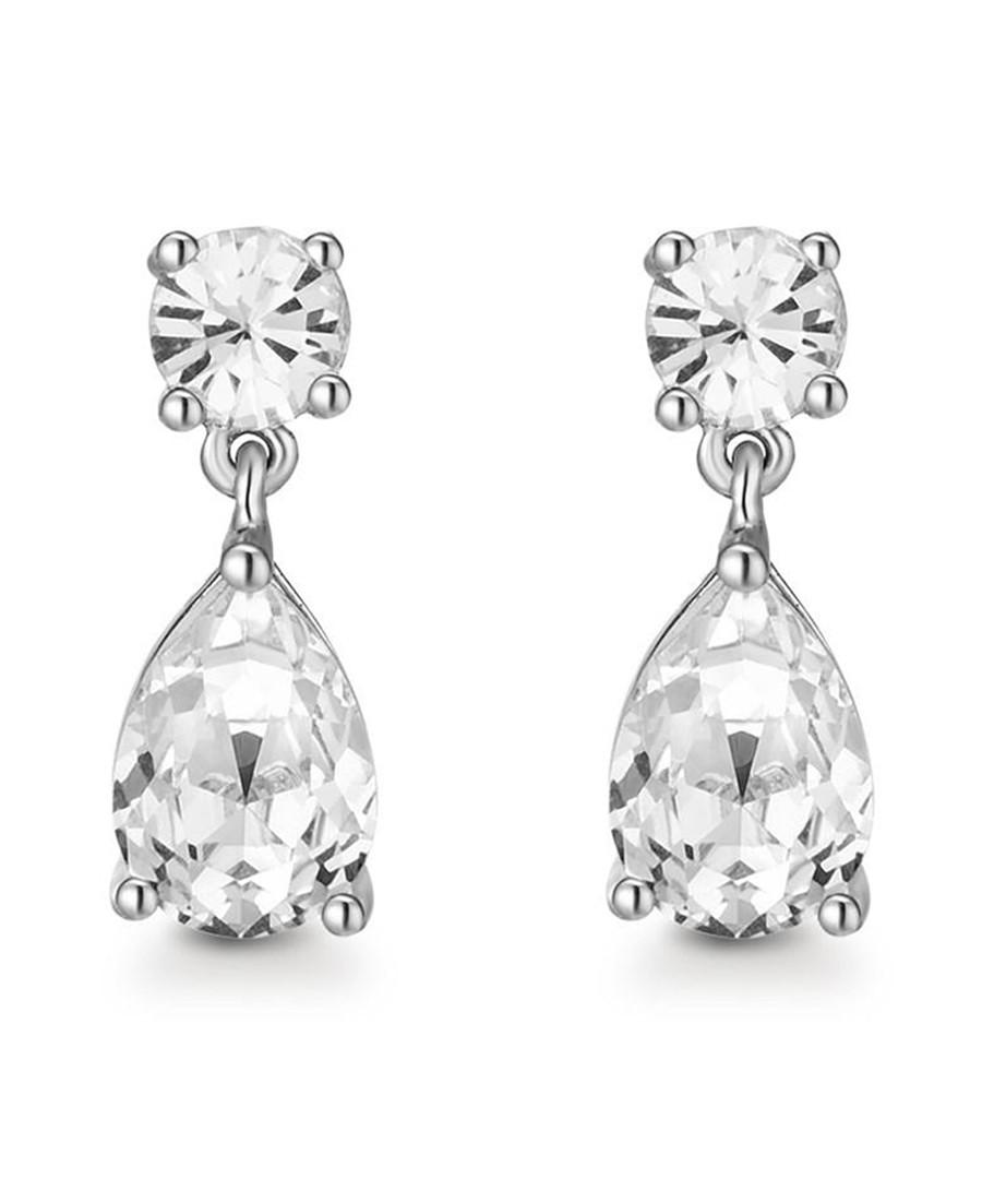 Samira silver-tone Swarovski earrings Sale - mestige