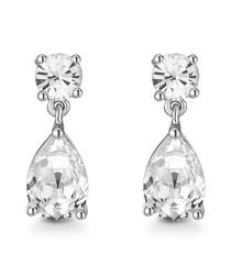 Samira silver-tone Swarovski earrings