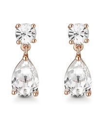 Samira rose gold-tone Swarovski earrings