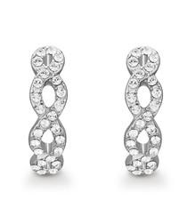 Savannah silver-tone Swarovski earrings