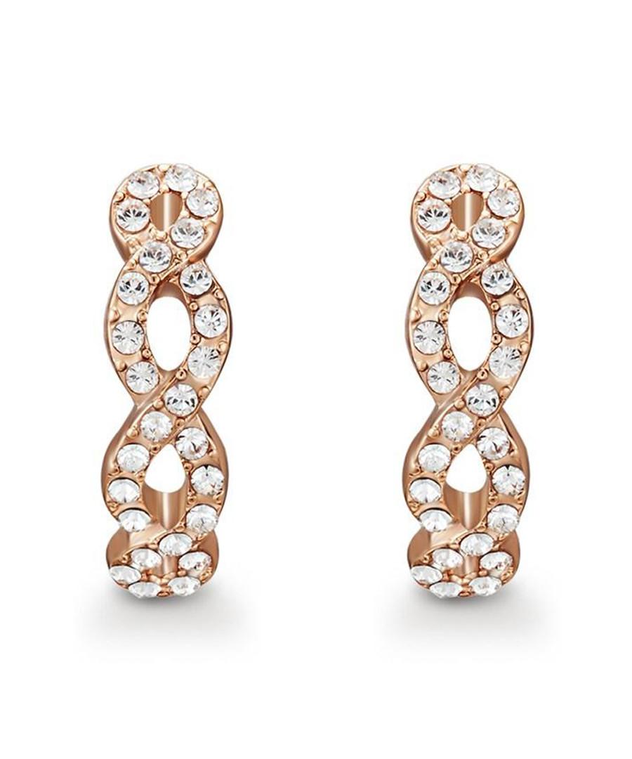 Savannah rose-tone Swarovski earrings Sale - mestige