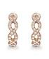 Savannah rose-tone Swarovski earrings Sale - mestige Sale