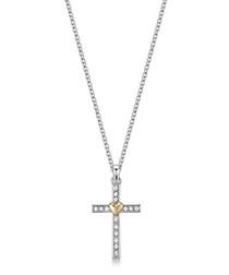 Holy Love silver-tone Swarovski necklace