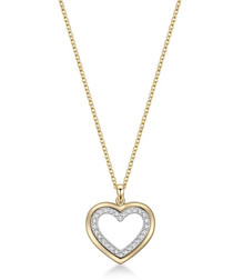 In My Heart dual-tone necklace