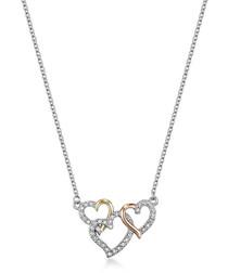 Perpetual love tri-tone necklace