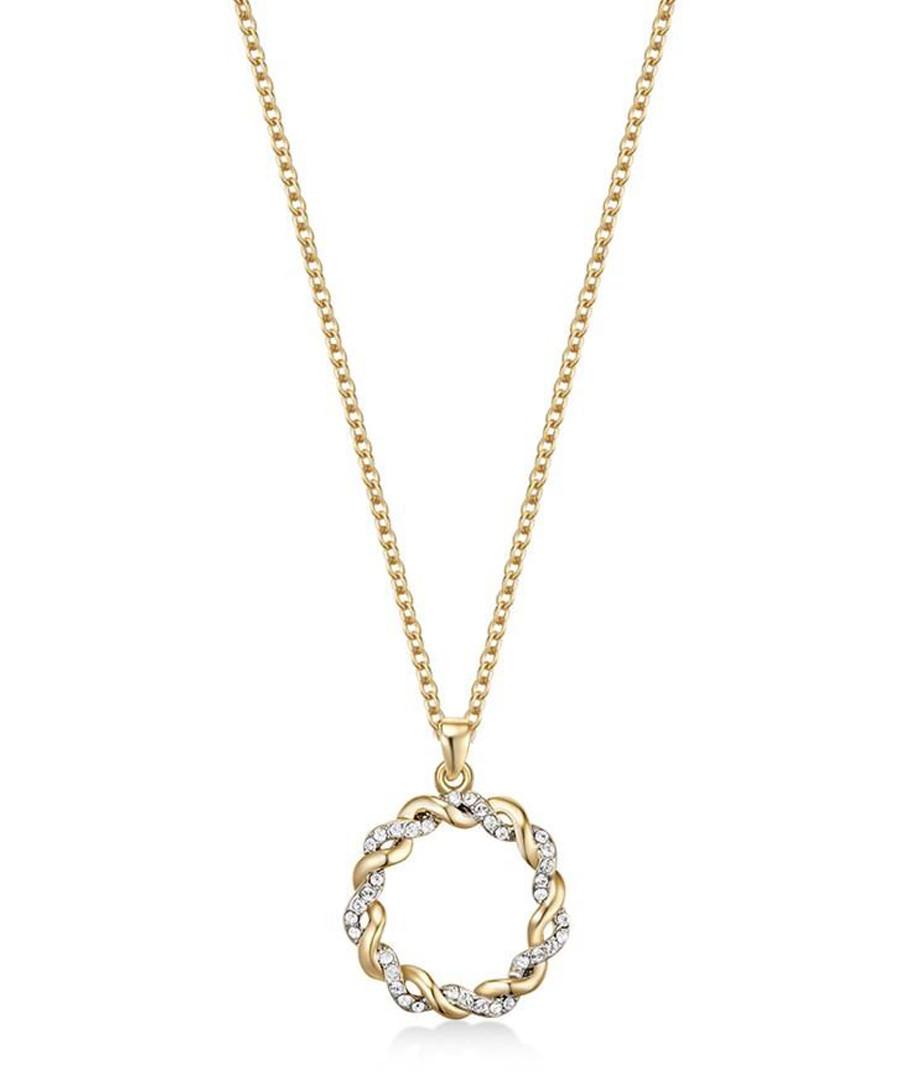 Spiral gold-tone Swarovski necklace Sale - mestige