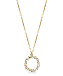 Spiral gold-tone Swarovski necklace