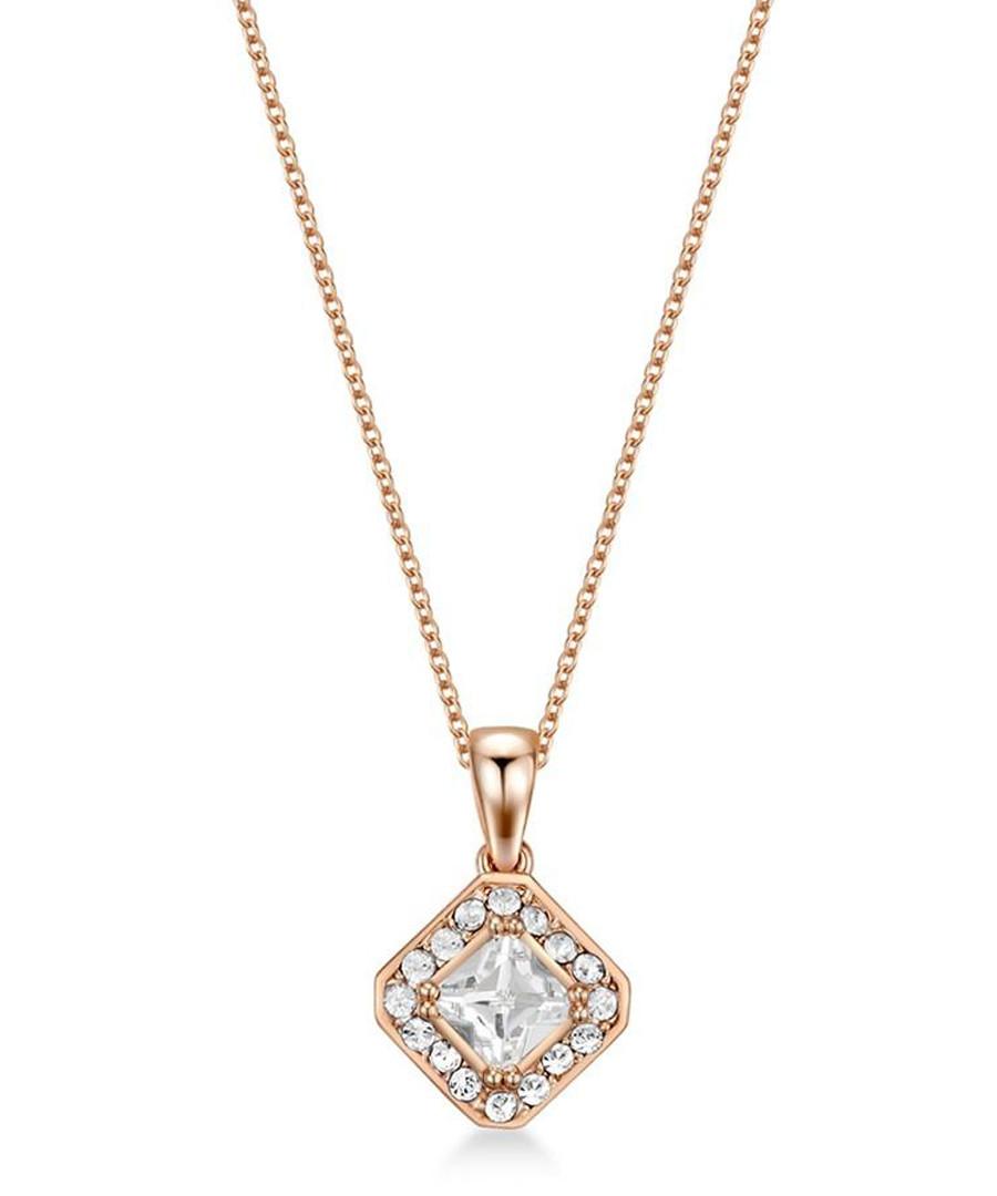 Thea rose gold-tone Swarovski necklace Sale - mestige