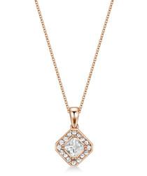 Thea rose gold-tone Swarovski necklace