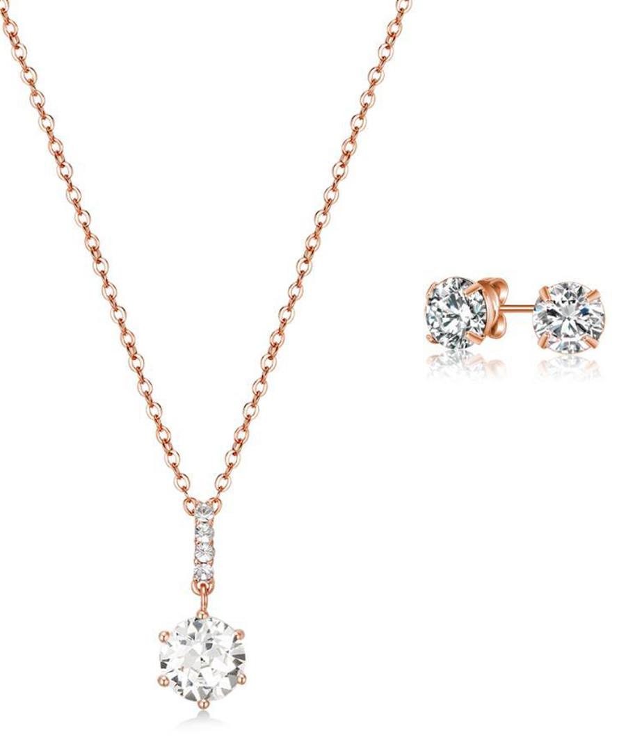 Anika rose gold-tone jewellery set Sale - mestige