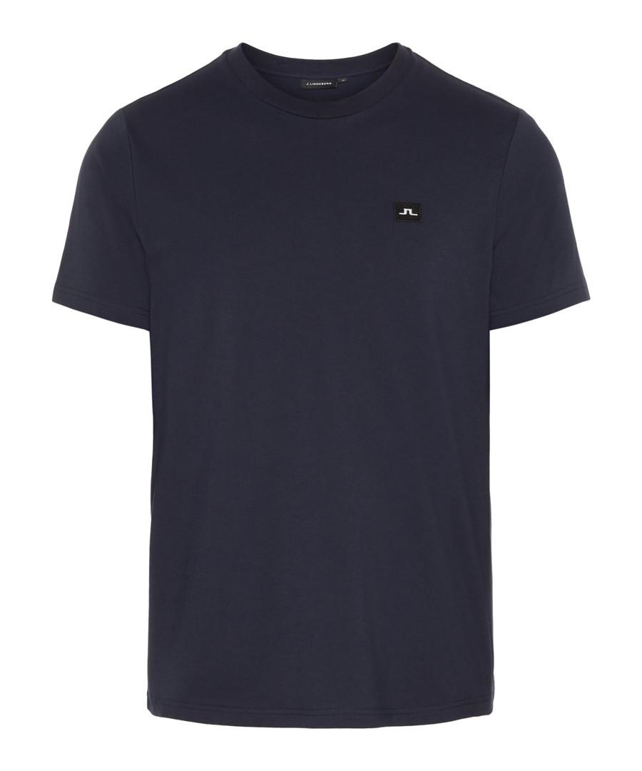 Bridge navy pure cotton T-shirt Sale - J Lindeberg