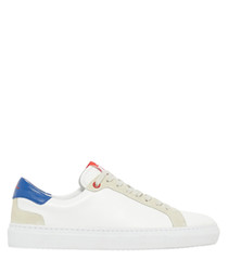 LT Block white & blue leather sneakers