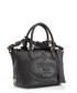 Glace black embossed leather tote Sale - prada Sale