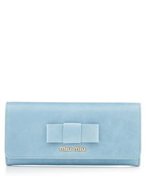 Vitello blue leather wallet