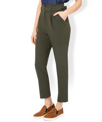 Thelma green utility peg leg trousers