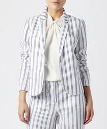 George blue stripe linen trousers