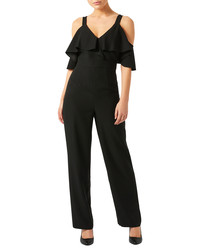 Julieta black cold-shoulder jumpsuit