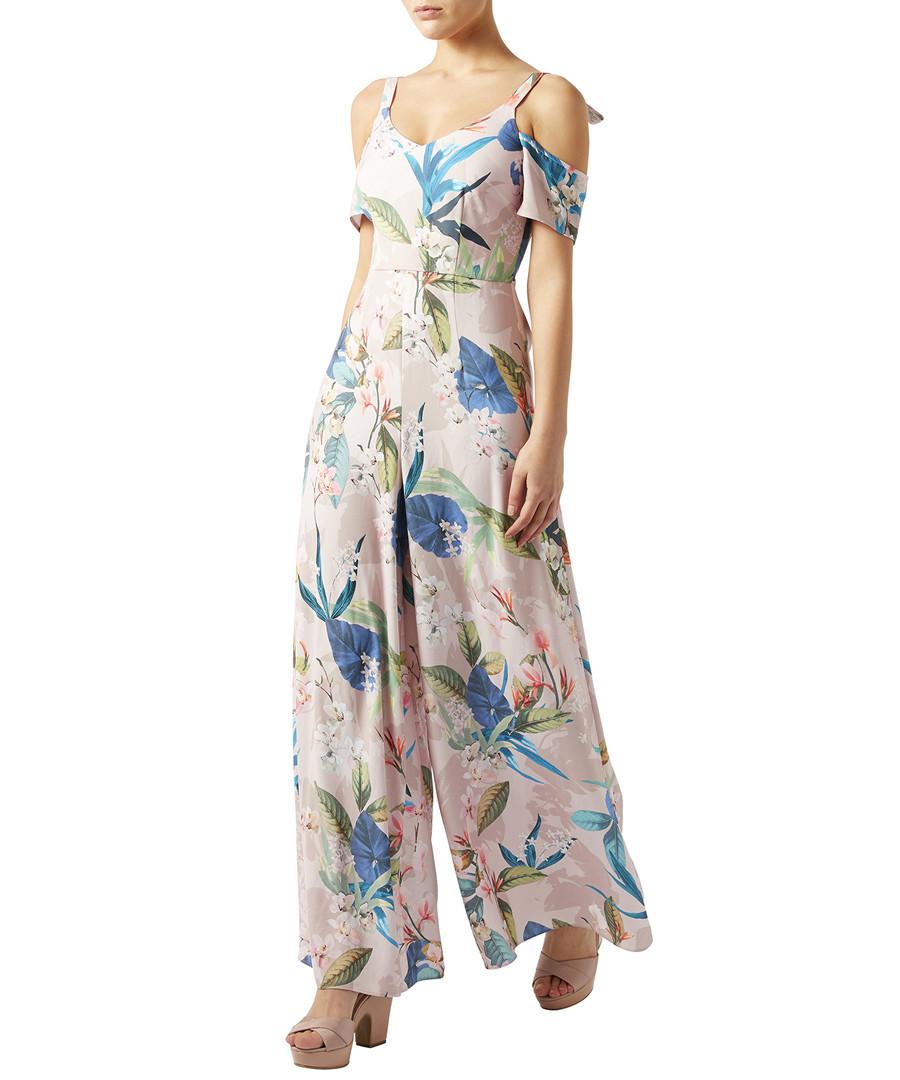 Camille nude floral print jumpsuit Sale - monsoon