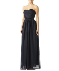 Molly navy strapless evening dress