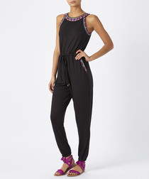 Emmi black embroidered jumpsuit