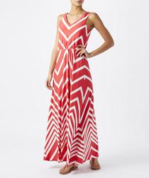 Camilla red zigzag maxi dress