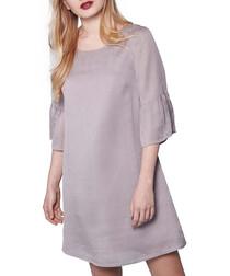 Grey sleeve detail mini dress