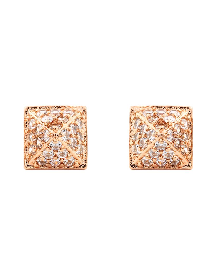 Lupine 18k rose gold-plated earrings Sale - sole du soleil