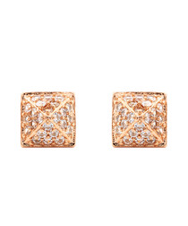 Lupine 18k rose gold-plated earrings