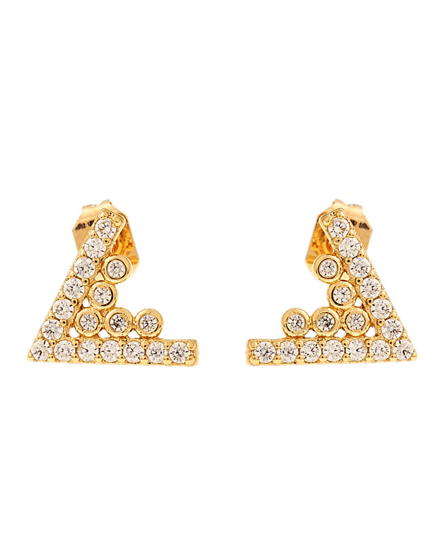 Lupine 18k yellow gold-plated earrings Sale - sole du soleil
