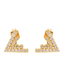 Lupine 18k yellow gold-plated earrings