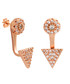Lupine 18k rose gold-plated earrings Sale - sole du soleil Sale