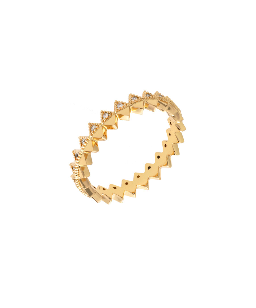 Lupine 18k yellow gold-plated ring Sale - sole du soleil