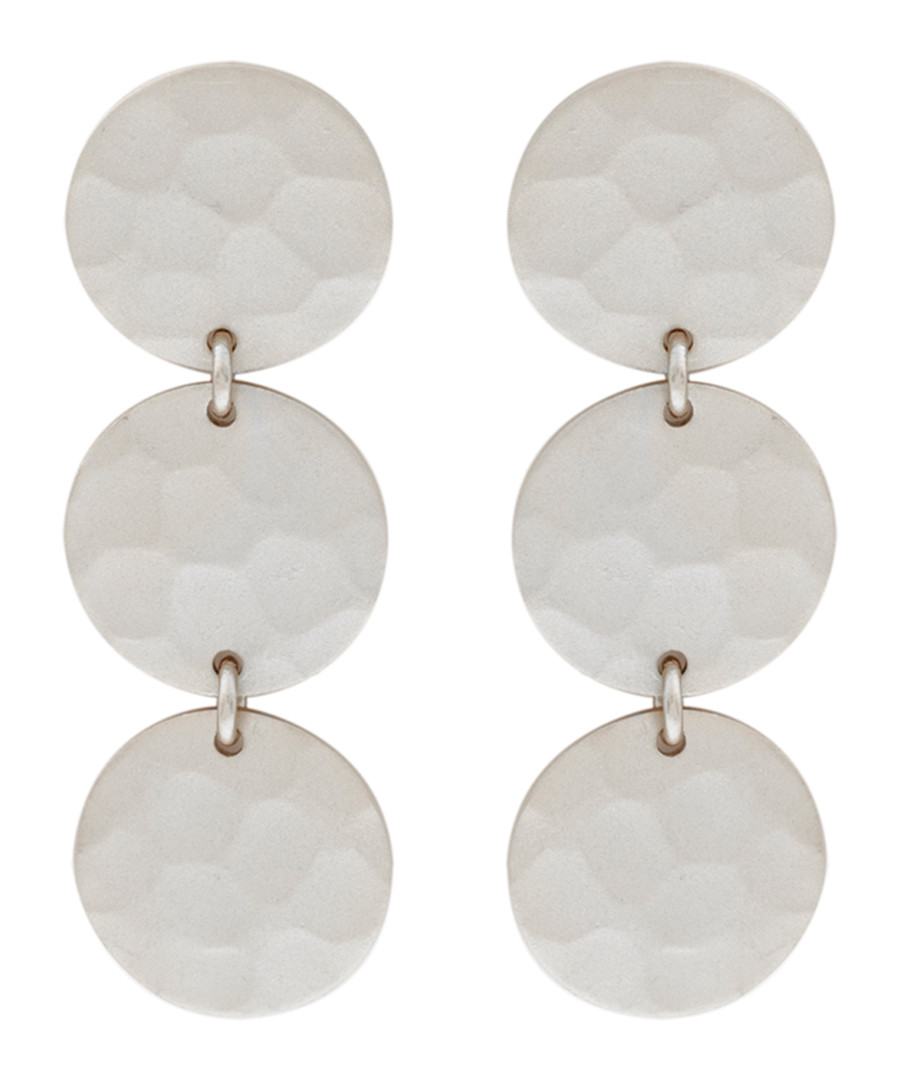 Marigold white gold-plated disc earrings Sale - sole du soleil