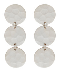 Marigold white gold-plated disc earrings