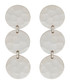 Marigold white gold-plated disc earrings Sale - sole du soleil Sale