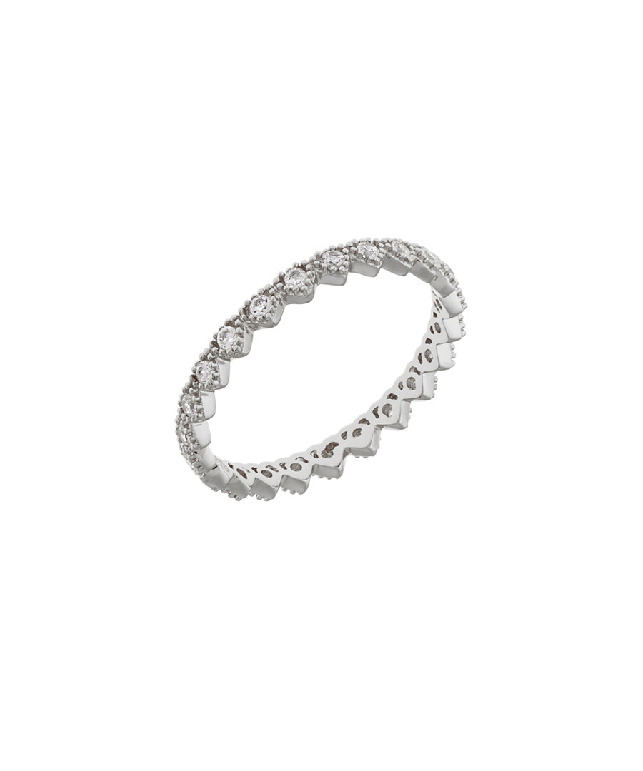 Lupine 18k white gold-plated cubic ring Sale - sole du soleil