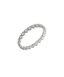 Lupine 18k white gold-plated cubic ring