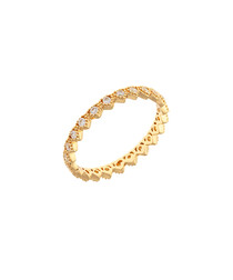Lupine 18k yellow gold-plated cubic ring