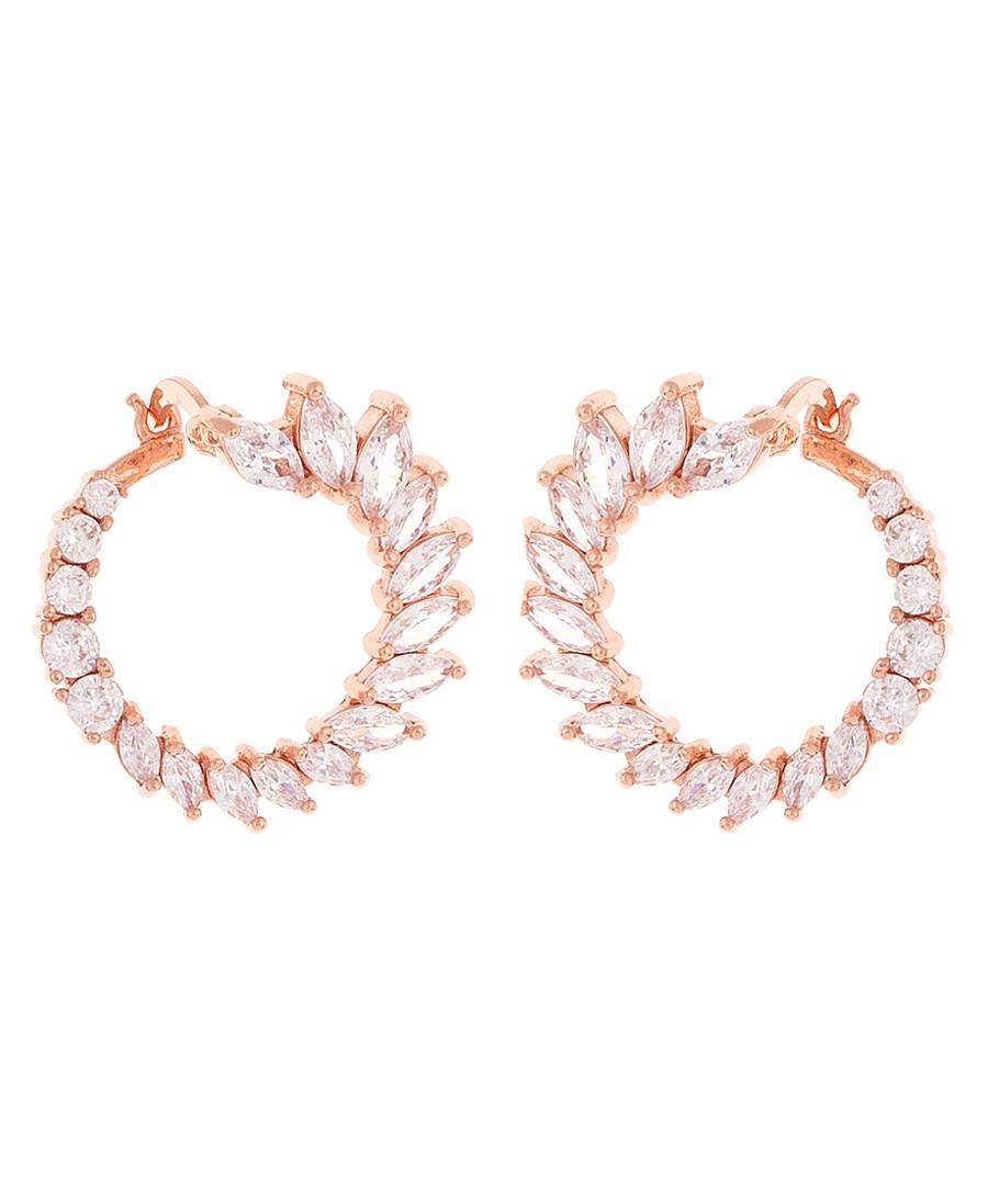 Hydrangea 18k rose gold-plated earrings Sale - sole du soleil