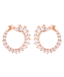 Hydrangea 18k rose gold-plated earrings