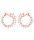 Hydrangea 18k rose gold-plated earrings Sale - sole du soleil Sale