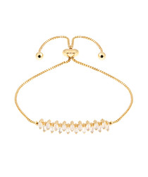 Petunia 18k yellow gold-plated bracelet