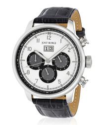 Montesquieu silver-tone & black watch