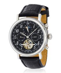 Millesime silver-tone & black watch