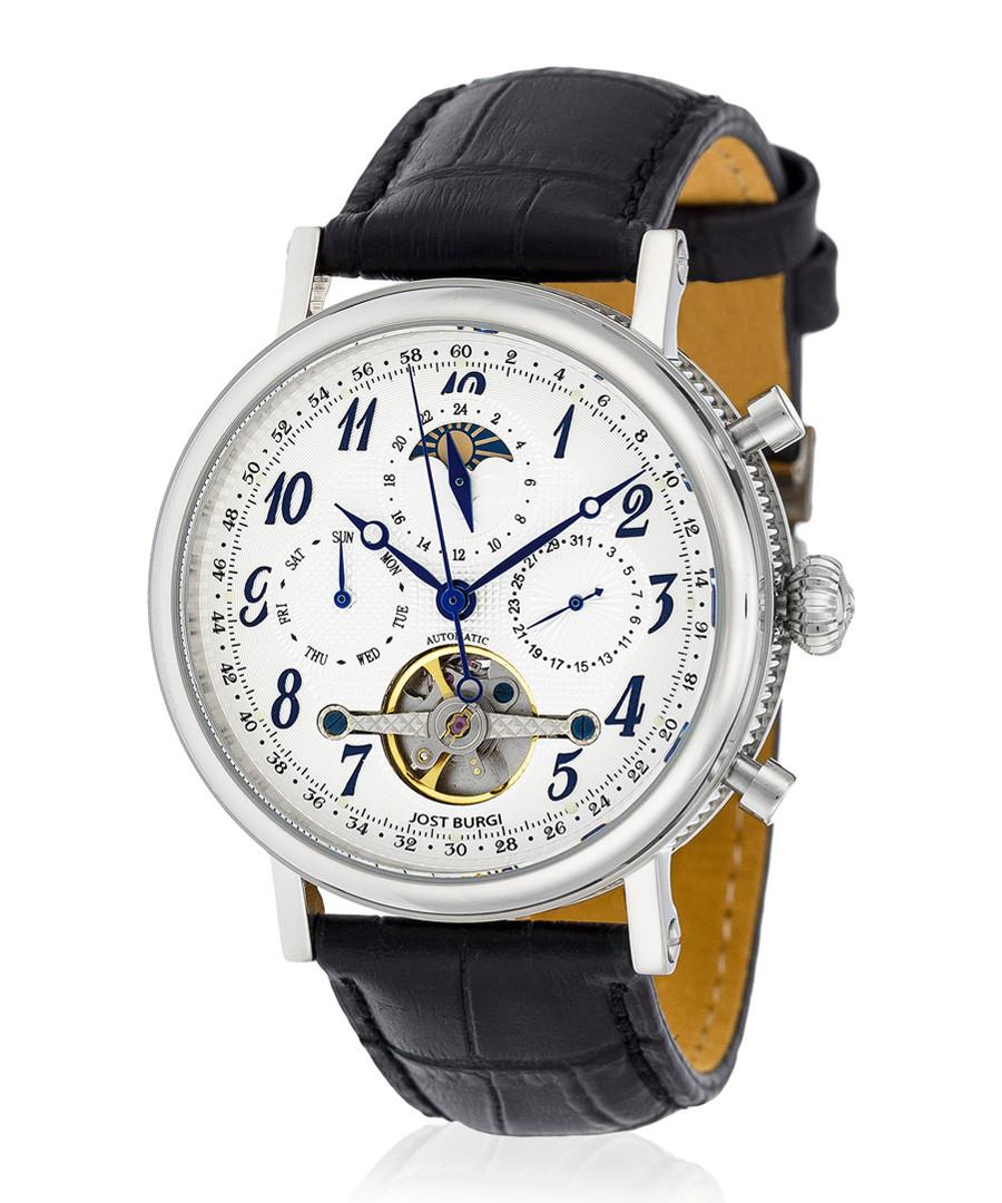 Millesime silver-tone & black watch Sale - jost burgi