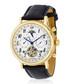 Millesime gold-tone black leather watch Sale - jost burgi Sale