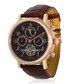 Millesime rose gold-tone & brown watch Sale - jost burgi Sale