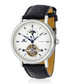 Masters silver-tone black leather watch Sale - jost burgi Sale