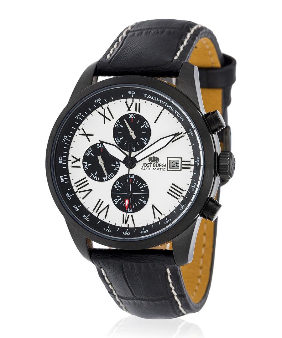 Legende black steel watch Sale - jost burgi