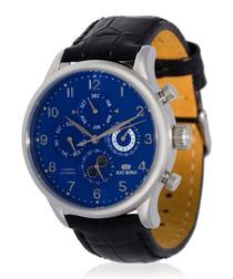 Quantieme silver-tone & black watch
